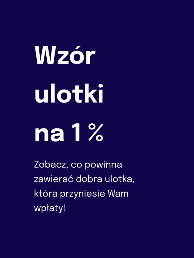 Wzór ulotki na 1%